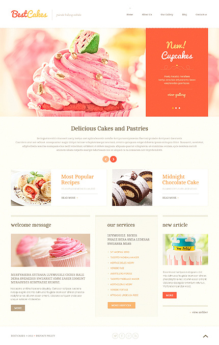 Confectionery Shop WordPress Theme