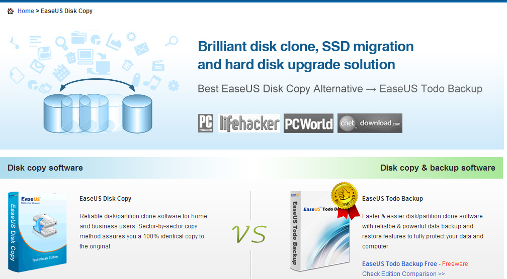 Free Disk Copy Disk Clone Software download to Clone Hard Drive EaseUS Disk Copy Freeware