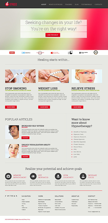 Health And Mental Care WordPress Theme