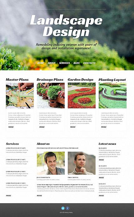 Landscape Design WordPress Theme