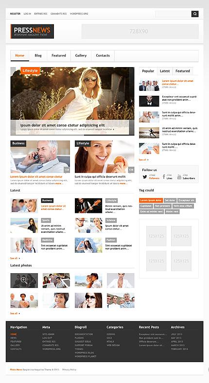 News Portal WordPress Theme
