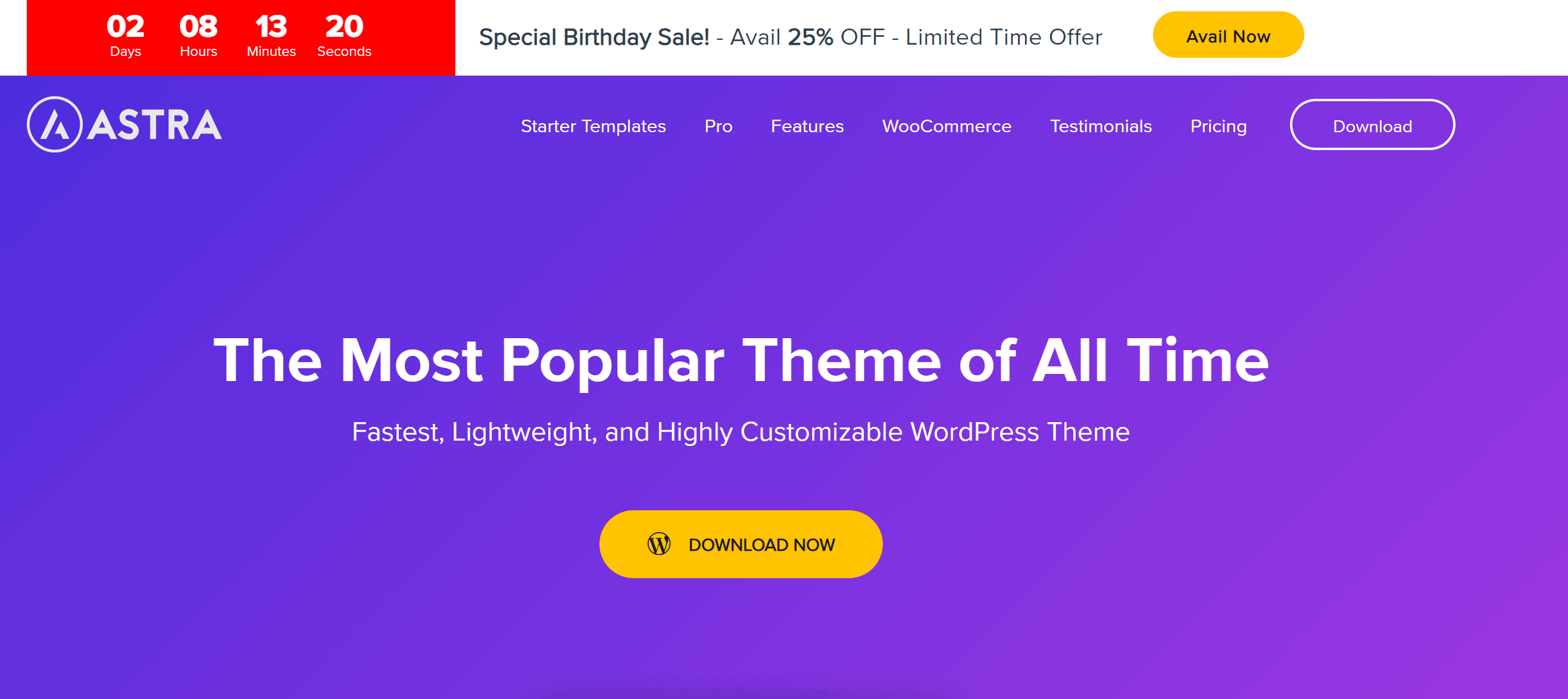 Astra Theme WordPress
