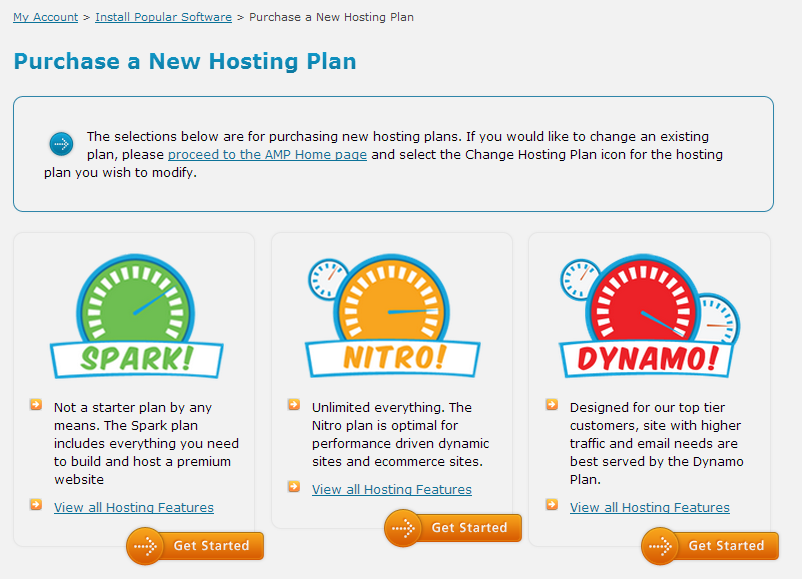 Web Hosting Hub Hosting Plans