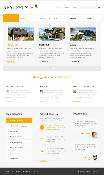 The Smart Real Estate WordPress Layout