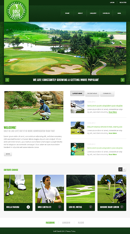 Golf Joomla Template
