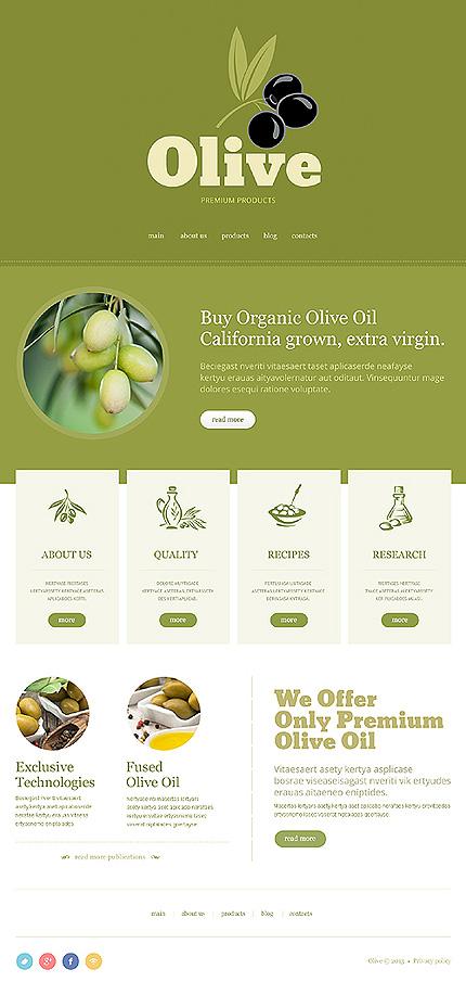 Minimalist Olive Store Joomla Template