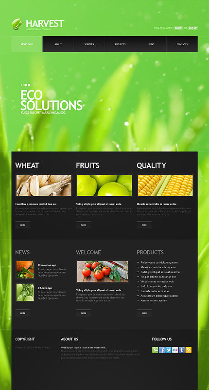 Natural Agriculture Joomla Template