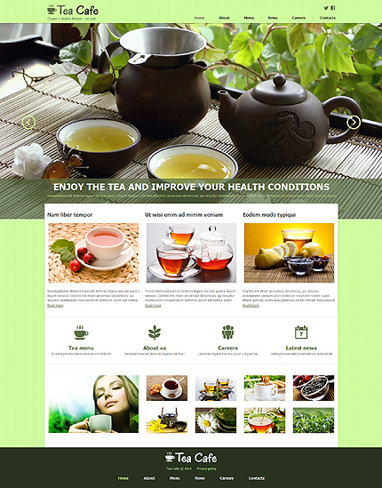 Tea Shop Responsive Joomla Template