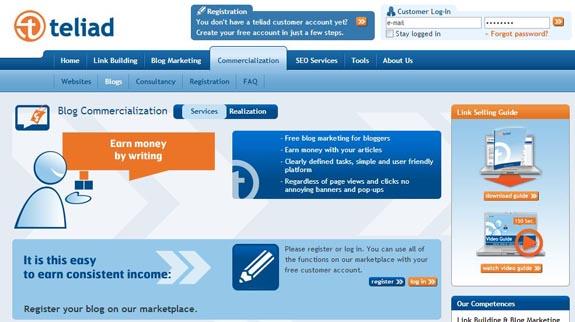 Blog marketing with teliad