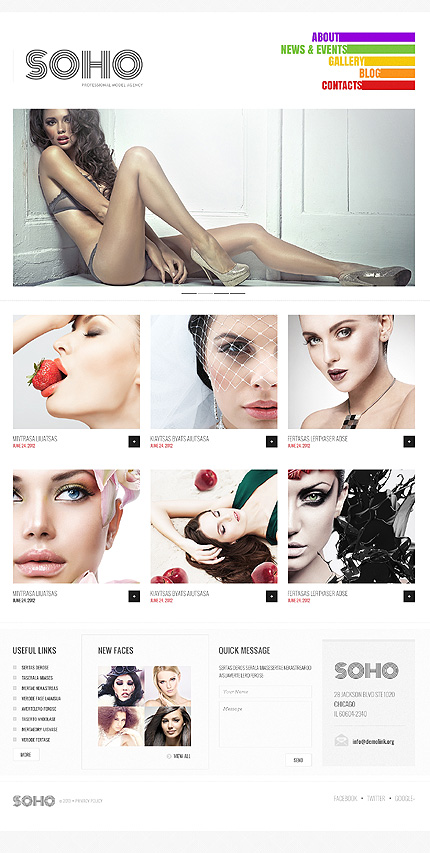 Beauty of Shapes: Model Agency WordPress Theme