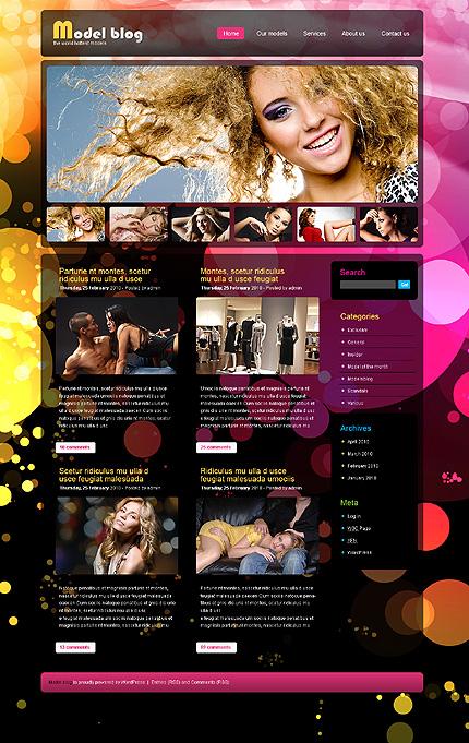 Center of Attention Fashion WordPress Design
