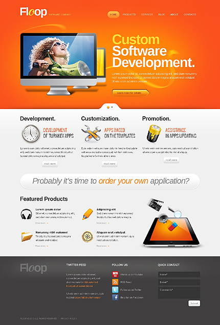 Developing New Ideas - Software Company WordPress Theme