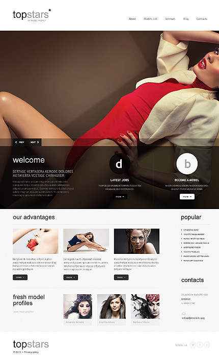 Divine Model Agency WordPress Theme