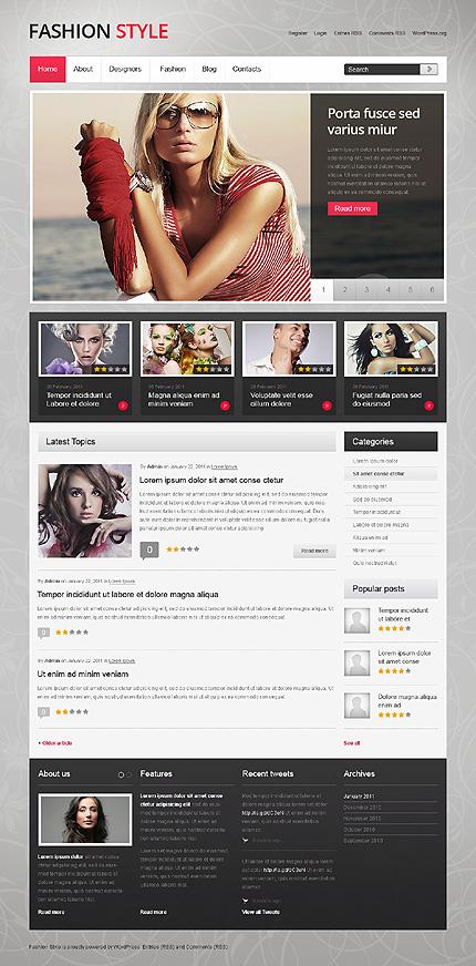 Dynamic Model Agency WordPress Template