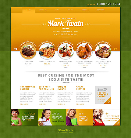 Enjoy Your Meal - Cafe Responsive WordPress Theme