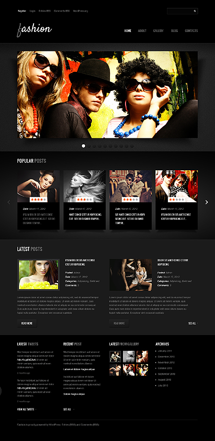 Fashion Abode Responsive WordPress Template