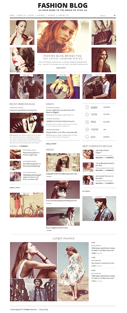 Fashion Blog for Passionate Authors WordPress Theme