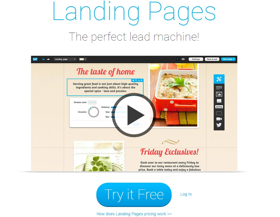GetResponse review- Landing Pages Creator
