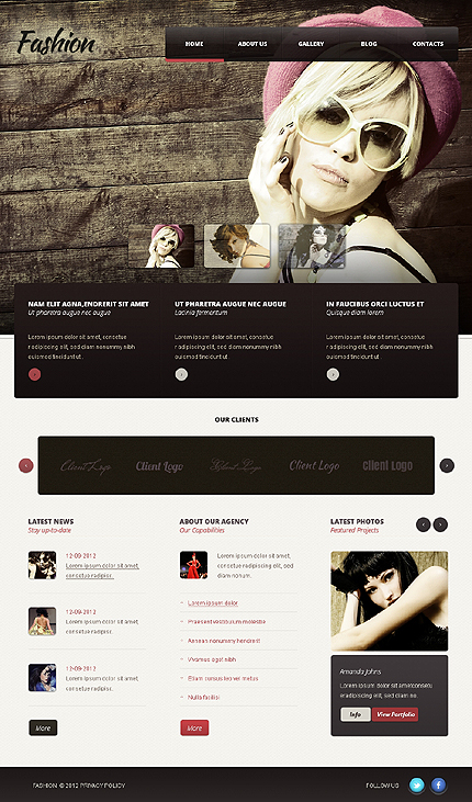Grunge Style Fashion WordPress Design