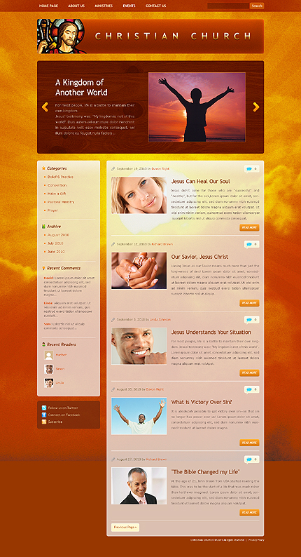 In God We Trust - Christian WordPress Theme