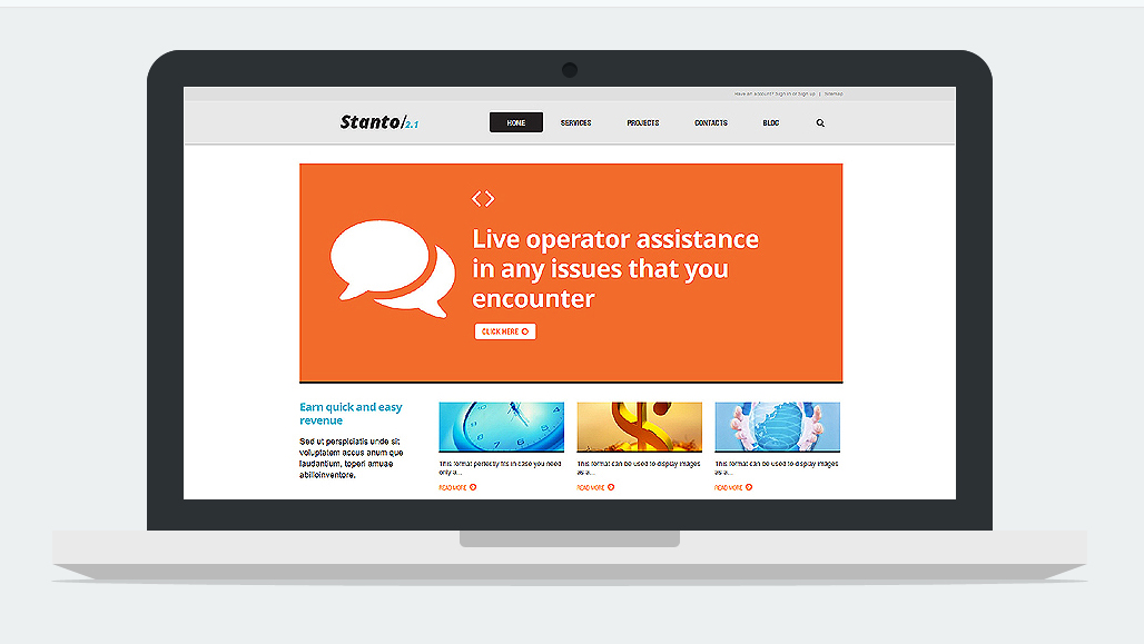 Live Chat Responsive WordPress Theme