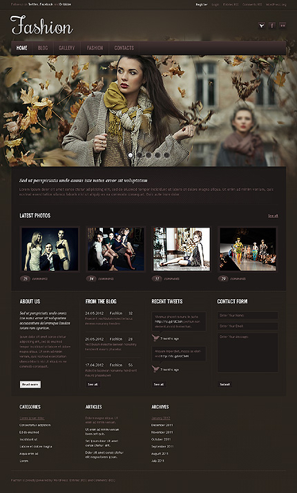 London Style Fashion Blog WordPress Theme