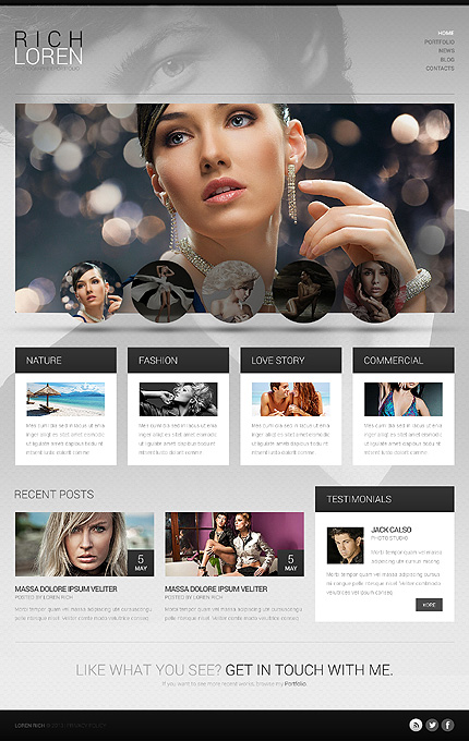 Luxurious Fashionable Photographer Portfolio WordPress Theme