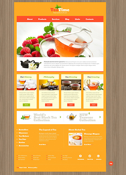 Real as Life Itself - Skeuomorphism Tea Shop WordPress Theme
