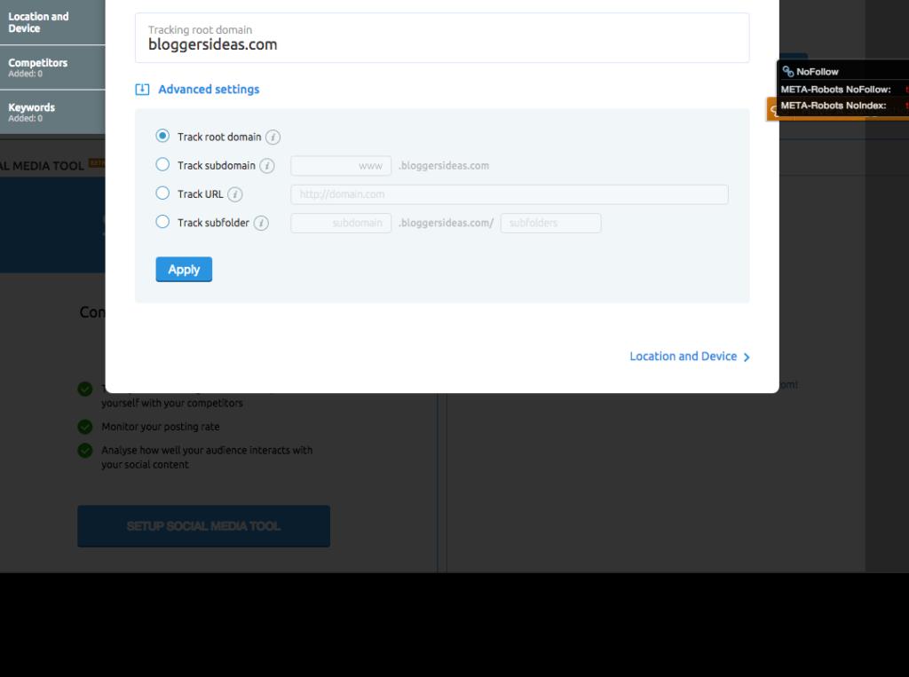 SEMrush domain position tracking