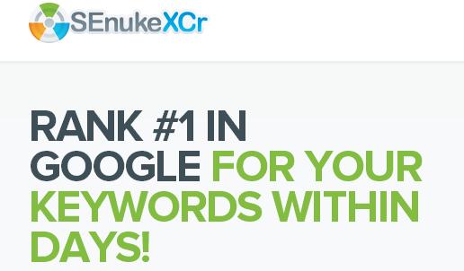 SEnuke XCr SEO Software Rank 1 in Google