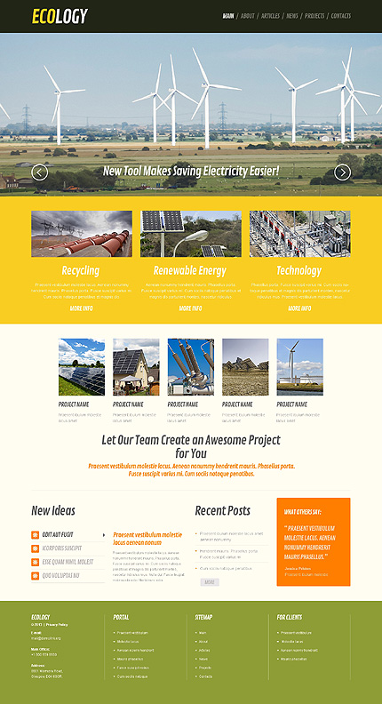 Safety and Benefits - Wind Energy Responsive WordPress Theme