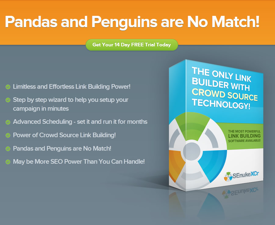 Senuke XCR SEO software Panda & penguin proof