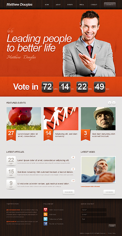 Strong Leaders - Political Candidate WordPress Theme