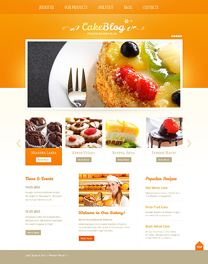 Tastiest Recipes - Cooking WordPress Theme
