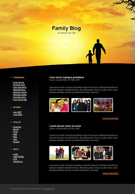 Together in Happiness - Family WordPress Theme