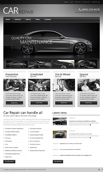 Car Retro Elegance WordPress Theme