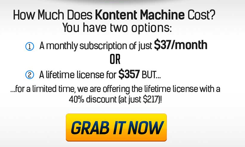 KONTENT MACHINE Prices