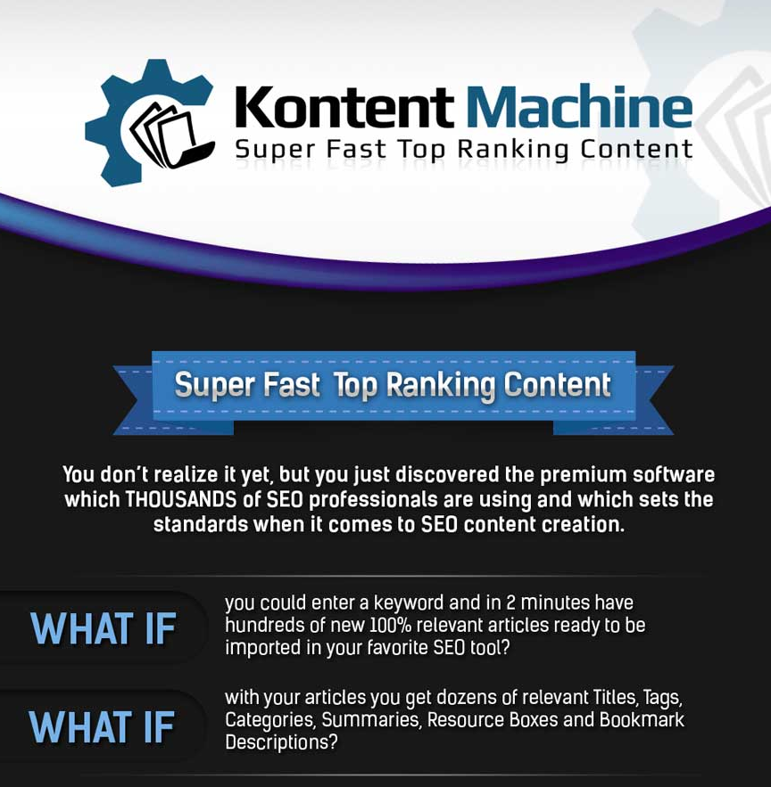 KONTENT MACHINE Super Fast Top Ranking Content Machine