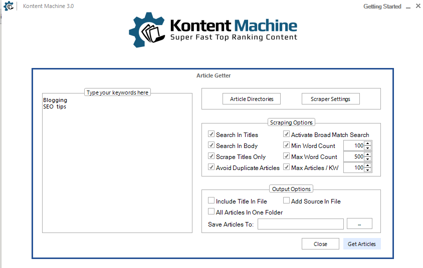 Kontent Machine 3 article getter