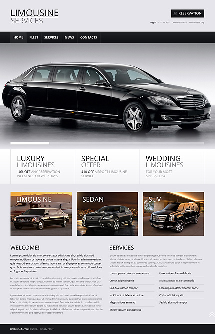 Limousine Services Ready-to-Use WordPress Theme