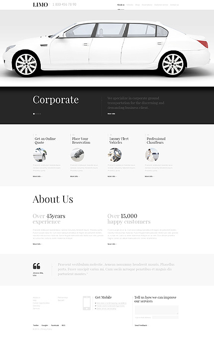 Luxury Limousine Services WordPress Theme