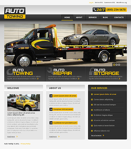 Successful Car Repair WordPress Theme