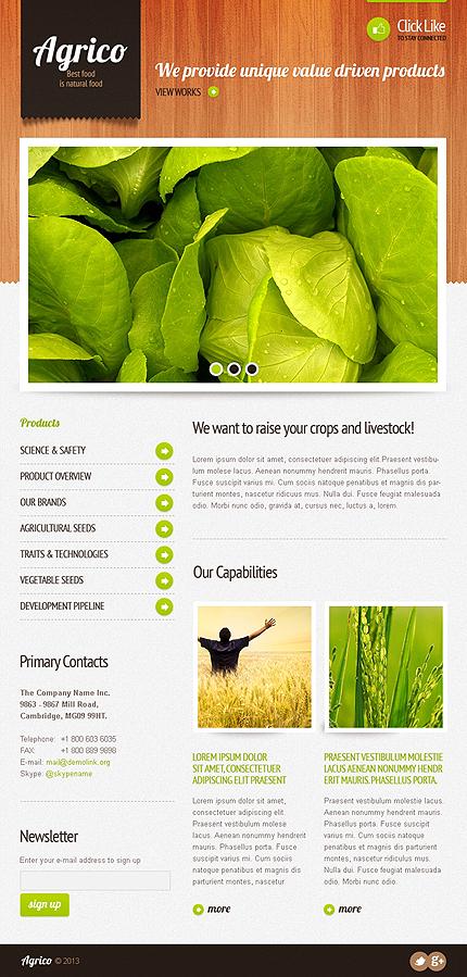 Agriculture Facebook Template