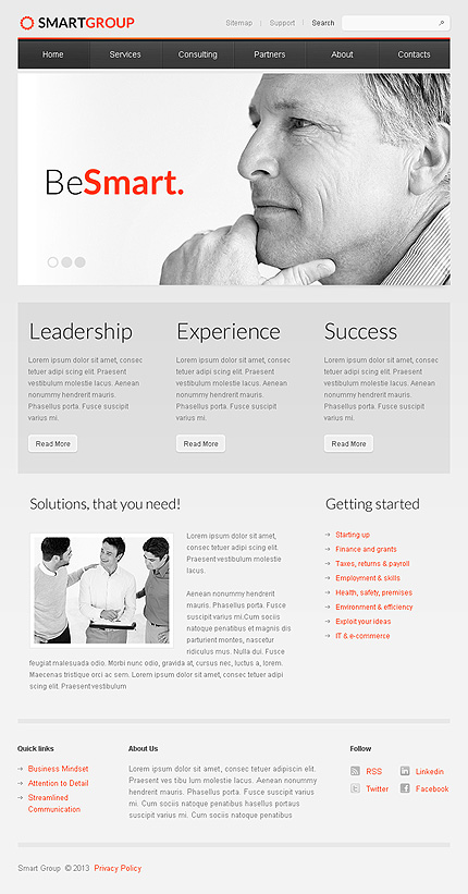 Consulting Facebook Template