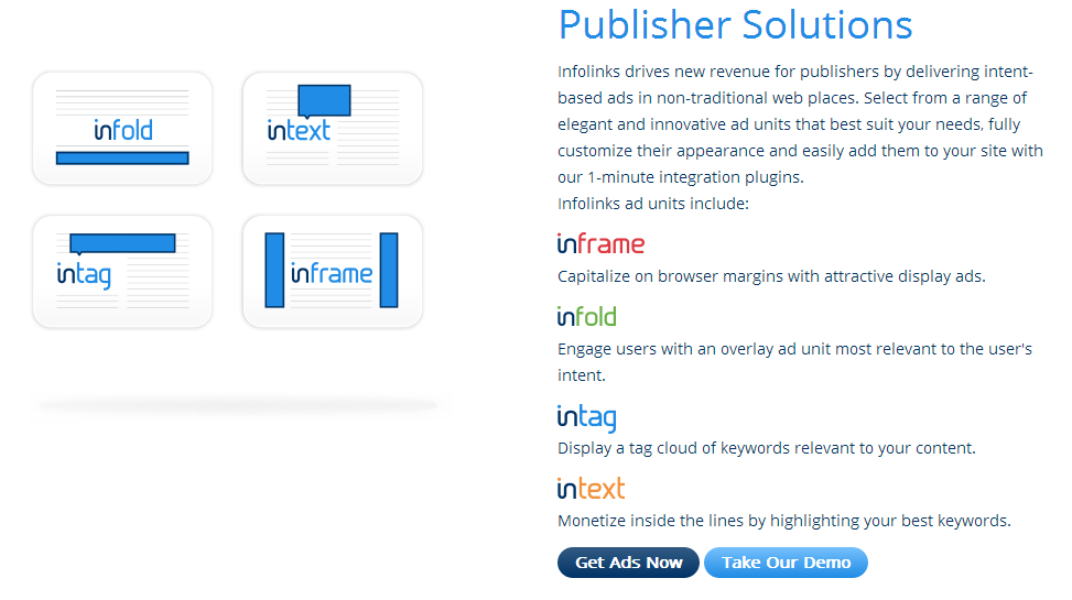 Infolinks increases revenue by delivering ad solutions to publishers