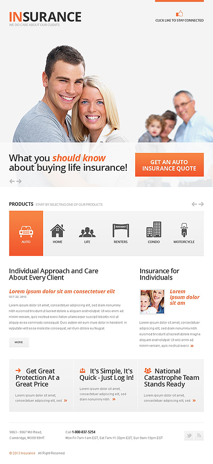 Insurance Facebook Template