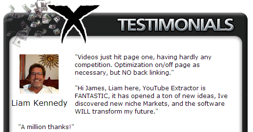 Magic YouTube Xtractor Testimonials 1