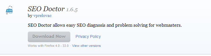 SEO Doctor Add ons for Firefox