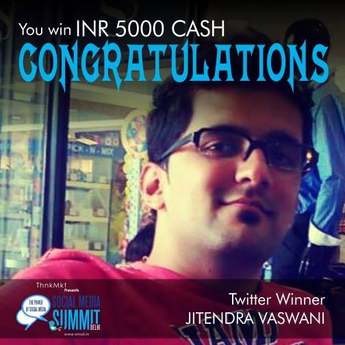 Twitter winner of social media summit delhi 2014