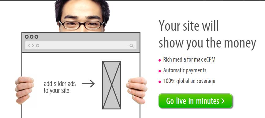 Qadabra Ad Serving Platform for Website Monetization